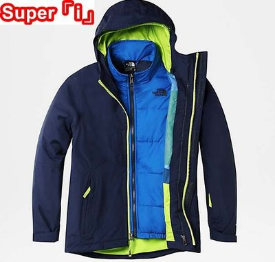 「i」【代購】The North Face 青少年 BOUNDARY 二件式 三合一 保暖防水透氣 滑雪 連帽 風衣夾克