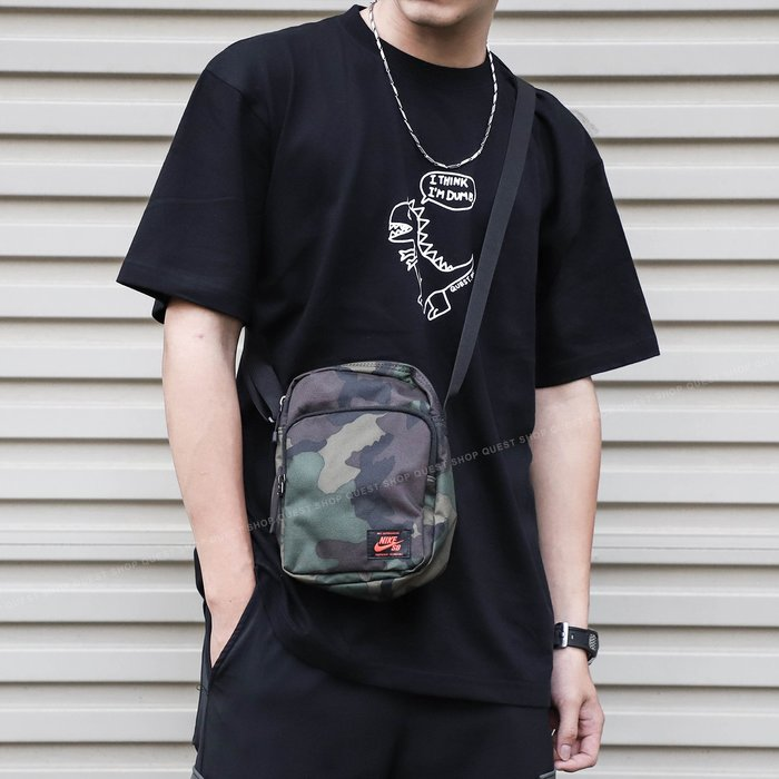 【QUEST】NIKE SB HERITAGE BAG 大容量 咬標 側背 肩包 小包 迷彩 BA5849 210