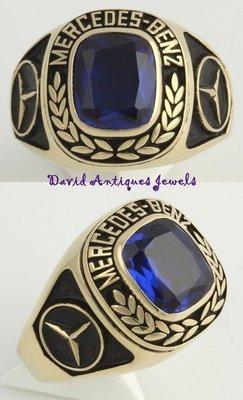 ((天堂鳥)) King of Ring ☞MERCEDES-BENZ Sales Manager 賓士銷售經理人K金藍寶石男戒