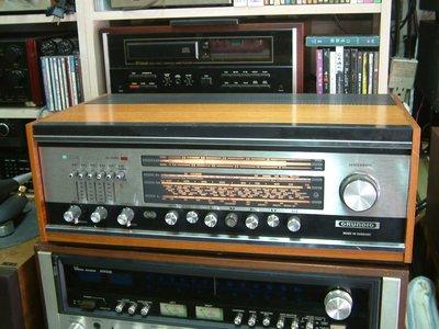 德國 GRUNDIG 3000 古董木箱 真空管收音擴大機 收訊一級棒 收藏級 德國進口 (誠可議)