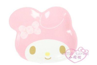 小公主日本精品♥ Melody美樂蒂粉色大臉粉色蝴蝶結造型盤子美耐皿盤餐盤-小款 11138402