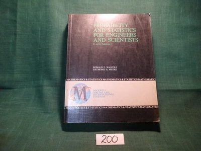 【愛悅二手書坊 20-17】Probability and Statistics for Engineers and Scientists