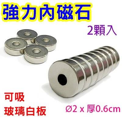 【M157】強力內磁石2cm(2顆裝)/強力內磁鐵 強力磁鐵 吸鐵 圓形磁鐵 銀色磁鐵 圓磁鐵 玻璃白板磁鐵