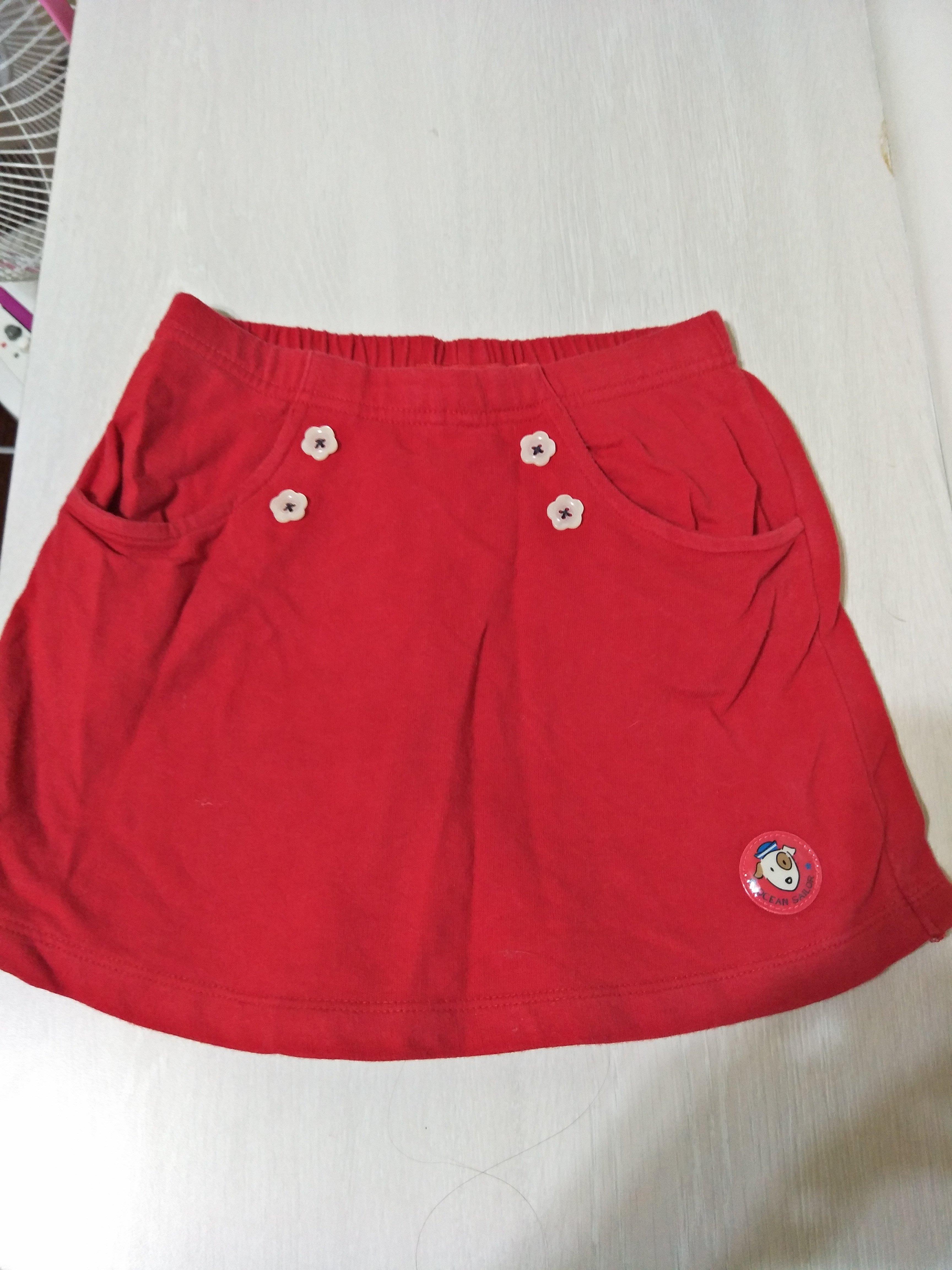 二手bossini紅褲裙一元起標