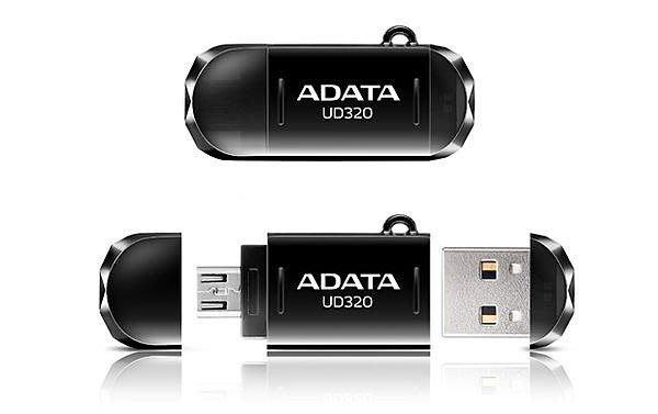 威剛 UD320 64G 64GB OTG手機電腦兩用隨身碟 AUD320-64G-CBK