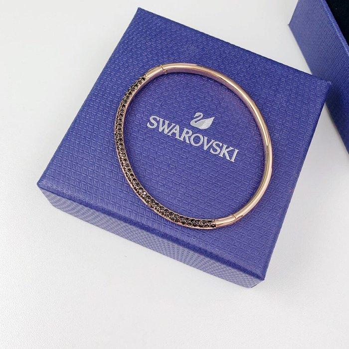 Chris精品代購 施華洛世奇 SWAROVSKI S925純銀 水晶 手環 手鍊 手環 飾品 附盒 黑色水鑽 天鵝設計