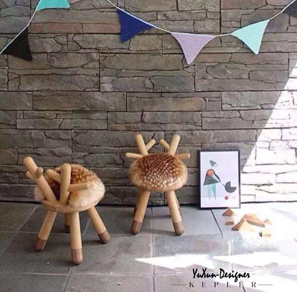 設計獎動物造型椅凳 換鞋凳 記憶坐墊 兒童椅凳 小凳 小椅子 創意 鹿│羊│牛│兔  北歐日式鄉村風格 宥薰設計家