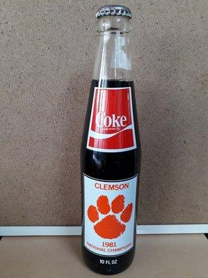 08 可口可樂 外國記念瓶1981/  收藏瓶 /玻璃瓶