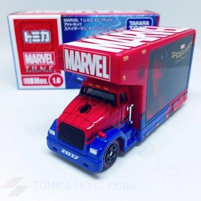 Takara Tomy Tomica Marvel TUNE AD Truck Spider-Man