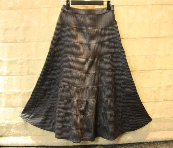 【性感貝貝2館】灰黑條紋蛋糕裙