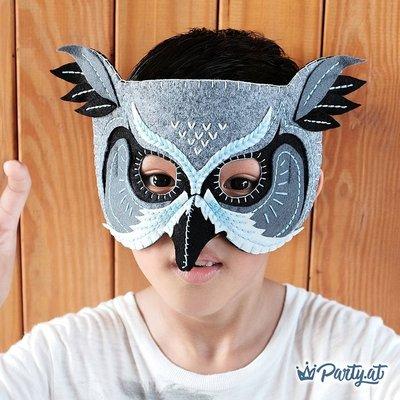 **party.at** 貓頭鷹面具 萬聖節 聖誕節 兒童面具 狐狸面具 蝙蝠俠 蜘蛛人超人 美國隊長 哈利波特 鋼鐵人