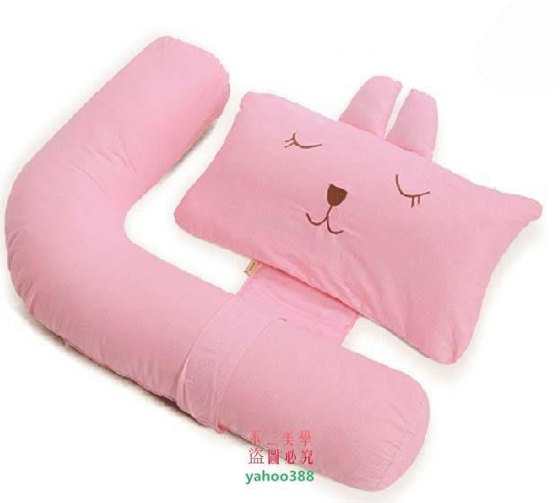 美學261媽媽孕婦枕頭護腰枕 多功能抱枕側睡枕護腰側睡側臥 夏 送枕席兩張❖47196