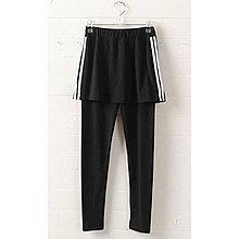 【Hao Da】全館399免運↘「M~XL。現貨」雙線條 假兩件內搭褲 (P1155)