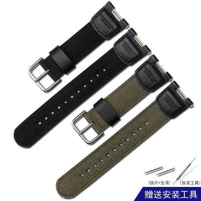 Cigade電子專營帆布尼龍錶帶代用卡西歐SGW100系列男SGW-100手錶帶3157