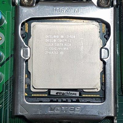 Intel Core i3-530處理器+宏碁H57H-AM2主板+8G終保記憶體、附擋板與風扇整套賣《自取價1599》