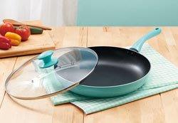 炒鍋/不沾鍋 / 大相感溫32cm平煎鍋+玻璃蓋組 購買價: 468 元
