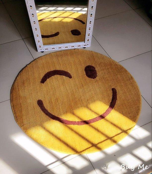 Buy Me 新款必備微笑 笑臉地墊 地毯 踏墊 60*60cm (三款)