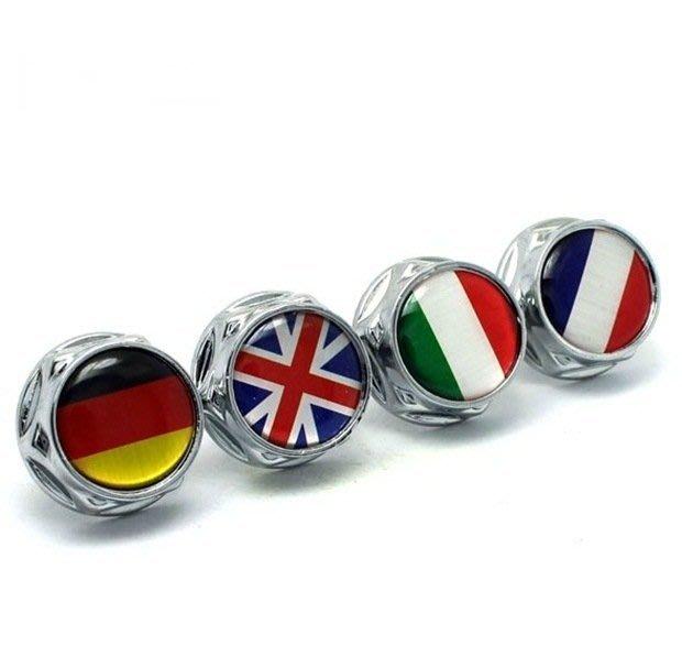 德國 意大利 英國 國旗 牌照螺絲 大牌螺絲AUDI BMW BENZ  沂軒精品