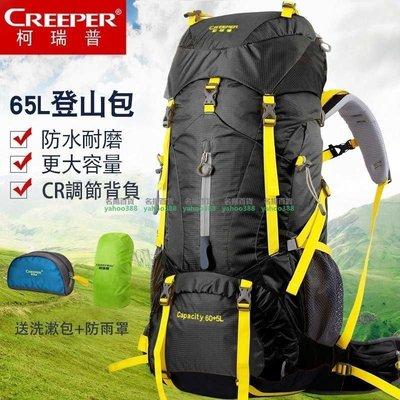 登山包雙肩男女旅遊旅行戶外背包65L 大容量背包 CR減負防潑水 名揚百貨49