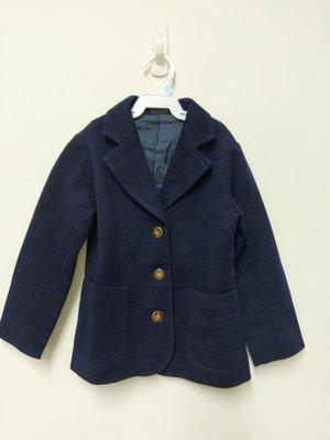 古著童裝 40年前的 日本キャラバン Caravan Hoppy 童裝 深藍色金色釦子西裝外套 115cm適合穿 胸圍58cm 6歲