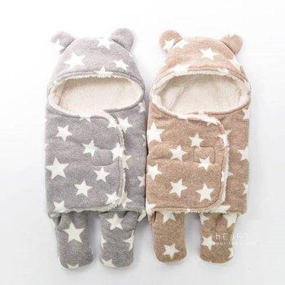 【可愛村】星星加厚羊羔絨保暖寶寶睡袋 兒童睡袋 加厚睡袋