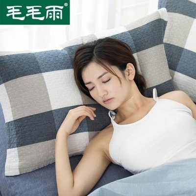 枕巾純棉高檔成人枕頭巾純棉一對 透氣情侶全棉枕g枕帕全棉 全館免運