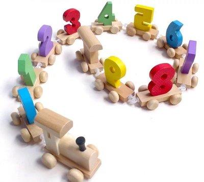 【晴晴百寶盒】數字積木玩具小火車 早教玩具 嬰幼兒童啓蒙 益智 寶寶開發大腦智力 禮物 CP值高 平價促銷 A178