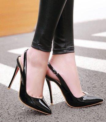 【明良精品】 HSF-Y-40水晶漆皮/超纖透氣內裡/跟高12cm高跟涼鞋(製作鞋碼範圍:33~48碼)