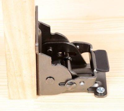 桌腳折合器 90度折合器 合頁 重型 自鎖 古銅黑 附螺絲
