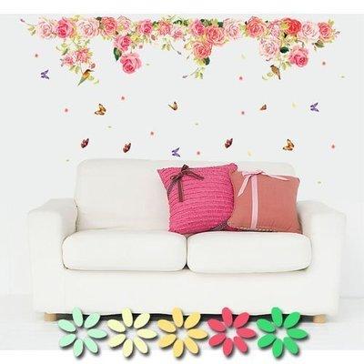八號倉庫  壁貼 兒童房 店面 佈置 卡通 DIY 牆貼 組合貼 浪漫牡丹【AY9163-08】