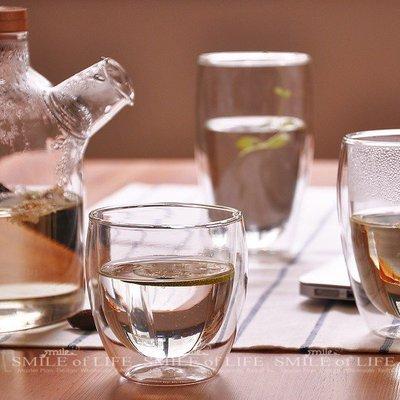 耐熱雙層玻璃杯【80ml】蛋形水杯 透明隔熱 防炸裂 輕薄通透 花茶 果汁 咖啡杯 ☆SMILE 創意商品批發