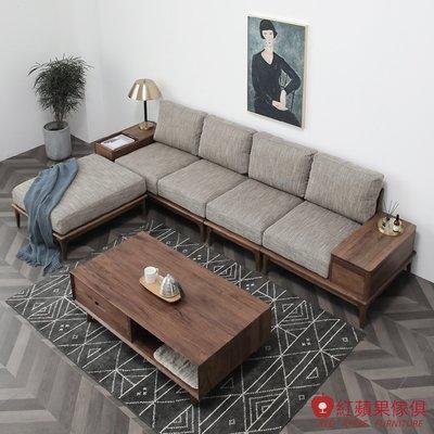 [紅蘋果傢俱]HM008 沙發 布藝沙發 北歐風沙發 日式沙發 實木沙發 無印風 簡約風