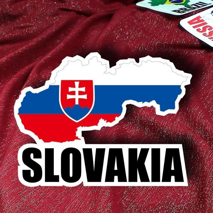 【國旗貼紙專賣店】斯洛伐克國旗地圖抗UV、防水行李箱貼紙/Slovakia/多國款可訂製