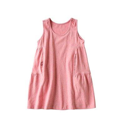 【叮叮親子商城】親子款純棉睡裙 中大童背心裙 女士家居連衣裙 夏裝