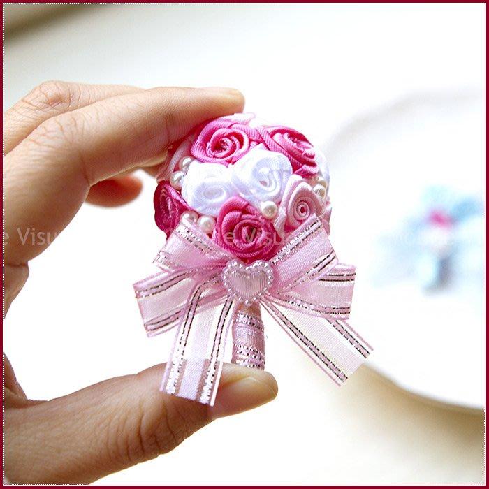 實用小捧花造型「磁鐵」(2色可挑.附袋)-姊妹探房禮/抽獎/送客禮/二次進場/禮品/贈品/手工婚禮小物/幸福朵朵