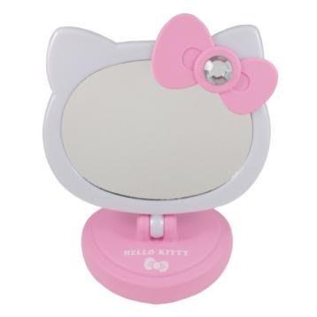41+ 現貨不必等 正版授權 凱蒂貓  造型LED桌鏡 MT-760KT 粉 紅  my4165