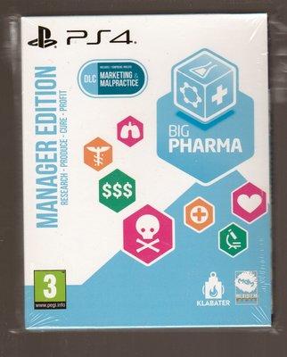 全新PS4 原版片 中文版 大制藥廠 模擬藥廠 制造基地 Big Pharma