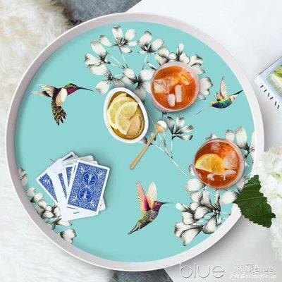 餐盤圓形創意北歐式套裝兒童茶幾水果盤客廳餐具家用水杯托盤酒店 全館免運