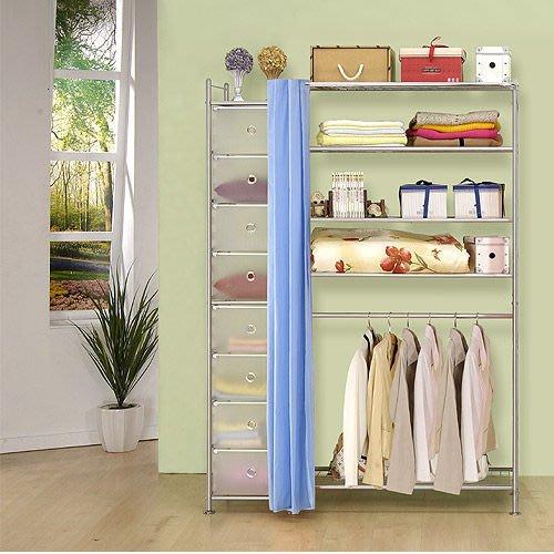【中華批發網DIY家具】D-61-14-W5+PP型90公分衣櫥櫃-(前罩)不織布-藍色