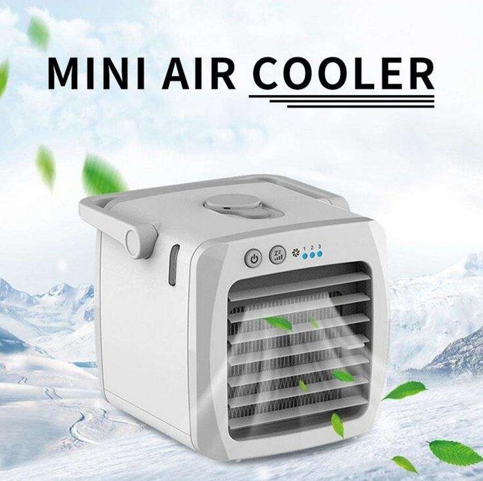 新款USB空調扇 方形手提風扇 迷你冷風機 家用宿舍冷風機 辦公室空氣加濕器風扇 9211