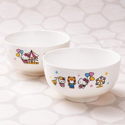 Hello Kitty 繽紛樂園碗 2件組  購買價:98 元