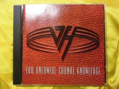 Van Halen 范海倫 For Unlawful Carnal Knowledge 美版
