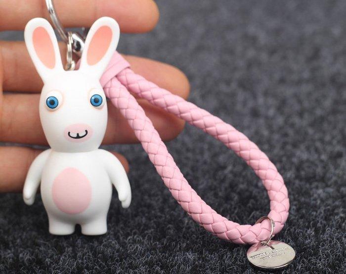 ☜男神閣☞黃渤齙牙兔鑰匙扣 汽車鑰匙扣掛件 創意禮品鑰匙鏈包掛件bv繩