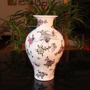 INPHIC-景德鎮陶瓷器 琺瑯彩花瓶 花插 夜光瓷 裝飾擺飾