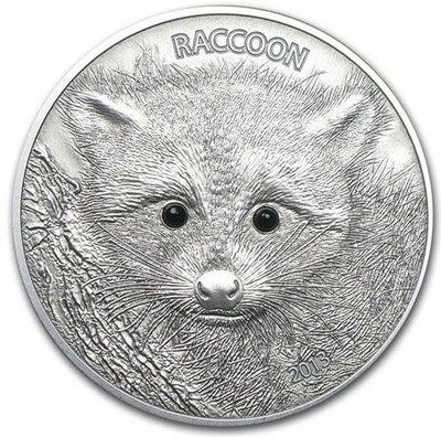 【翰維貿易】 2013年 萬那杜 瓦努阿圖共和國 浣熊 1 oz 盎司 銀幣 仿古 高浮雕 預售 代購