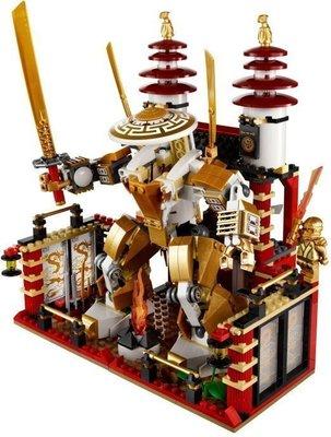 ☆ 恩祐小舖-正版 博樂幻影 忍者 NINJAGO - N0:9795 光明神殿 黃金忍者武士 【Lego系列 】