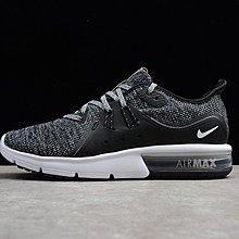 D-BOX NIKE AIR MAX SEQUENT 3 黑灰白 大氣墊 雪花編織 慢跑鞋 運動鞋