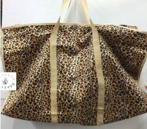 【小丸子 】 豹紋袋 防水 -大 行李袋 旅行袋 搬家 提袋 肩背 外出 收納袋 袋