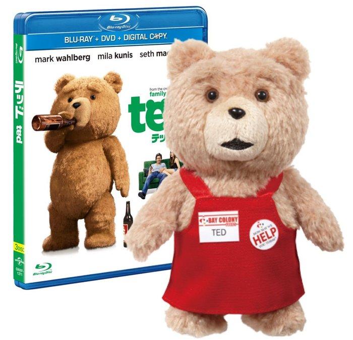 41+ 現貨 不必等 初回限量 日本帶回 熊麻吉 TED 日文版 DVD 加 玩偶 吊飾 小日尼三 日本代購