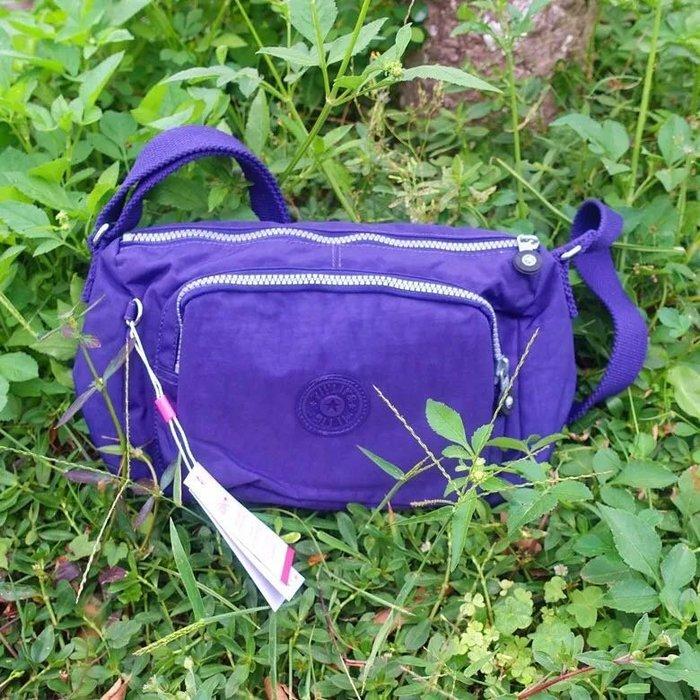 Kipling 猴子包 K12969 葡萄紫 輕量輕便多夾層 斜背肩背包 防水 限時優惠